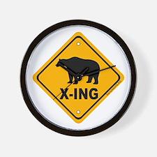 Bear X-ing Wall Clock