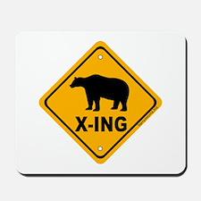 Bear X-ing Mousepad