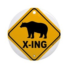 Bear X-ing Ornament (Round)