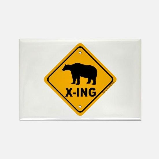 Bear X-ing Rectangle Magnet (10 pack)