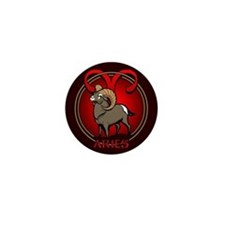 Aries Ram Mini Button Astrology Aries Pin
