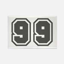 Number 99 Rectangle Magnet
