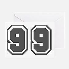 Number 99 Greeting Card