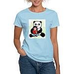 Panda Hugs Women's Pink T-Shirt