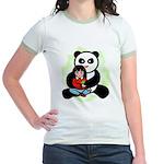 Panda Hugs Jr. Ringer T-Shirt