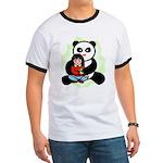 Panda Hugs Ringer T
