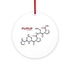 Pupup name molecule Ornament (Round)