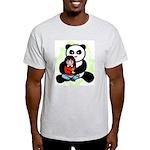 Panda Hugs Ash Grey T-Shirt