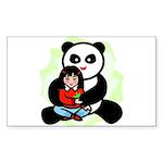 Panda Hugs Rectangle Sticker