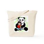Panda Hugs Tote Bag
