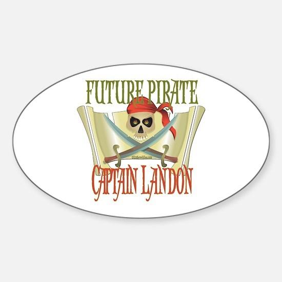 Captain Landon Oval Decal