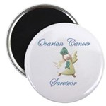 OVARIAN CANCER SURVIVOR WITH ANGEL Magnet