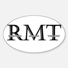 Registered Massage Therapist Oval Decal