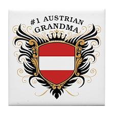Number One Austrian Grandma Tile Coaster