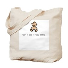 """ctrl + alt + nap time"" Tote Bag"