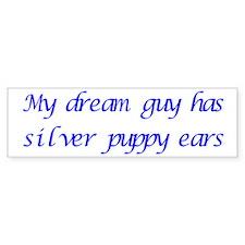 Dream Guy Puppy Ears 2 Bumper Bumper Sticker