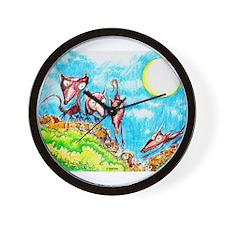Rat Moon Wall Clock