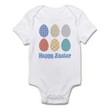 Happy Easter Decorated Eggs Infant Bodysuit