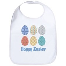 Happy Easter Decorated Eggs Bib