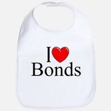 """I Love (Heart) Bonds"" Bib"