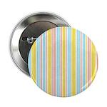 """Pink, Yellow, Blue Stripe 2.25"""" Button"""