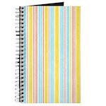 Pink, Yellow, Blue Stripe Journal