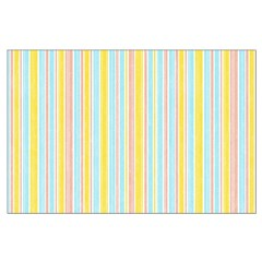 Pink, Yellow, Blue Stripe Posters