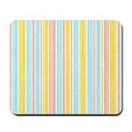 Pink, Yellow, Blue Stripe Mousepad