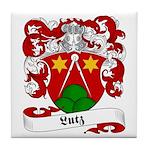 Lutz Family Crest Tile Coaster