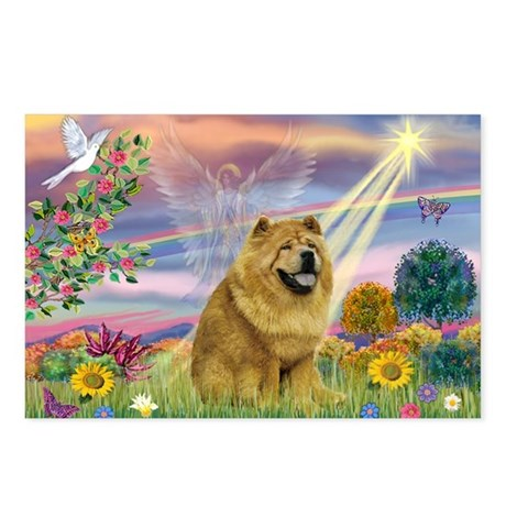 Cloud Angel & Chow Chow Postcards (Package of 8)