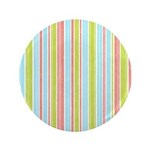 "Pink, Blue, Green Stripe 3.5"" Button (100 pack)"