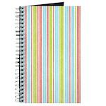 Pink, Blue, Green Stripe Journal