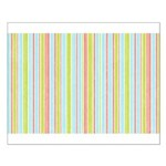 Pink, Blue, Green Stripe Small Poster