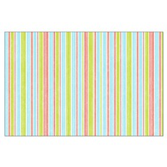Pink, Blue, Green Stripe Posters