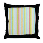 Pink, Blue, Green Stripe Throw Pillow