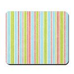 Pink, Blue, Green Stripe Mousepad
