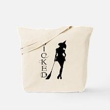 Witching Circles Black Tote Bag