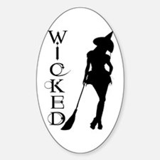 Witching Circles Black Oval Decal