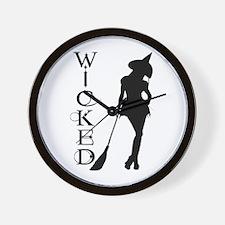 Witching Circles Black Wall Clock