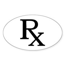 Rx Symbol Oval Decal