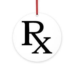Rx Symbol Ornament (Round)