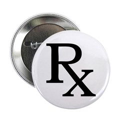 "Rx Symbol 2.25"" Button (100 pack)"