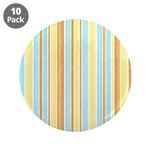 "Orange, Yellow, Blue Stripe 3.5"" Button (10 pack)"