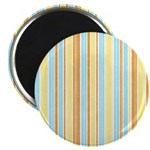Orange, Yellow, Blue Stripe Magnet