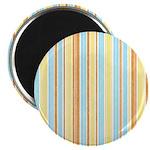 "Orange, Yellow, Blue Stripe 2.25"" Magnet (10 pack)"