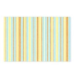 Orange, Yellow, Blue Stripe Postcards (Pack of 8)