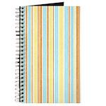 Orange, Yellow, Blue Stripe Journal