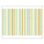 Orange, Yellow, Blue Stripe Small Poster