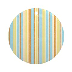 Orange, Yellow, Blue Stripe Ornament (Round)