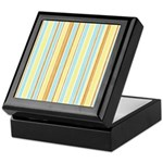 Orange, Yellow, Blue Stripe Keepsake Box